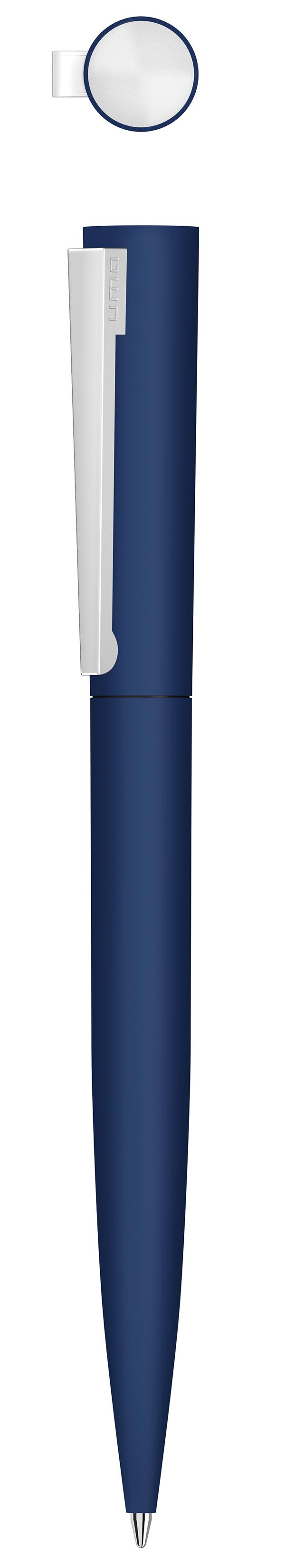 UMA Set BRUSH GUM (Metall-Kugelschreiber + Metall-Rollerball in Geschenkbox)
