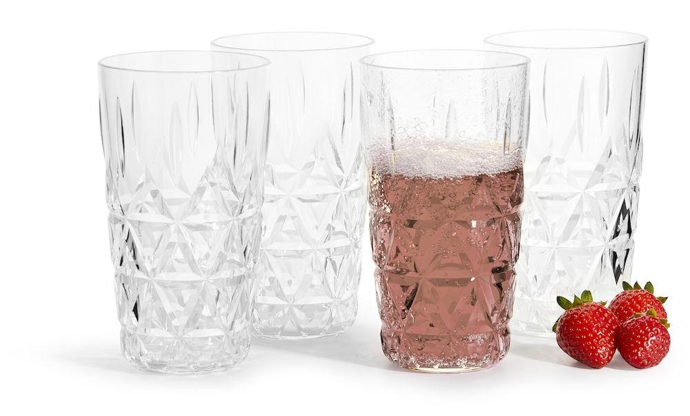 Sagaform Picknick Universalglas 40cl 4er Set