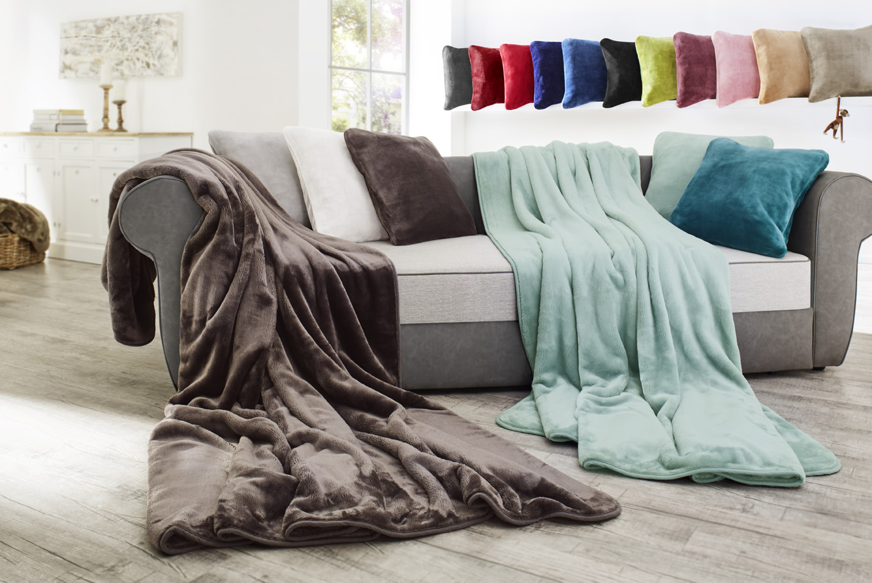 Decke Cashmere Feeling Premium 130x170cm mit Veredelung (Gravur)