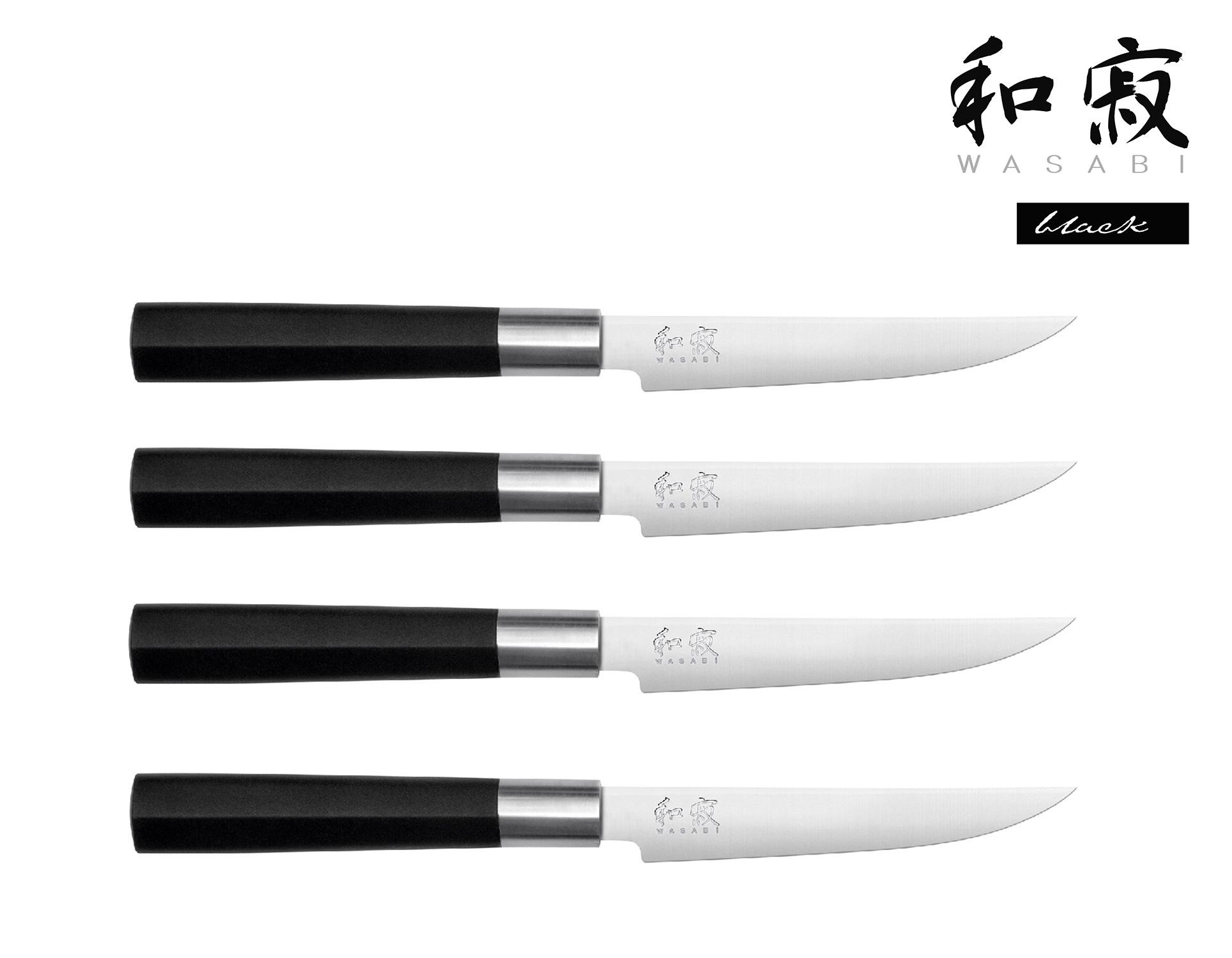 KAI Wasabi Black 4-er Set Steakmesser